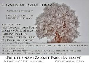 Slavnostní sázení stromů