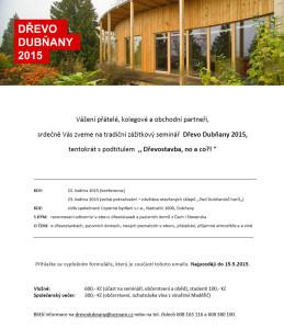 Proběhl zážitkový seminář Dřevo Dubňany 2015